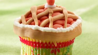 Sweet cherry pie cupcakes