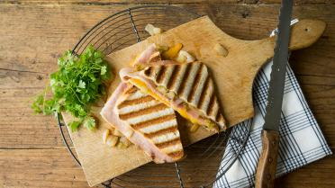 Croque monsieur met witloof, cheddar en gandaham