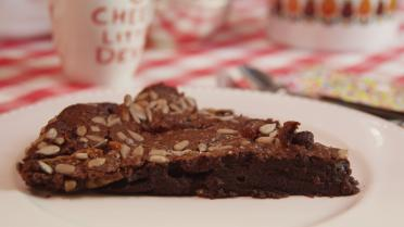 Chocoladebrownie full option