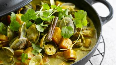 Curry met schelpjes