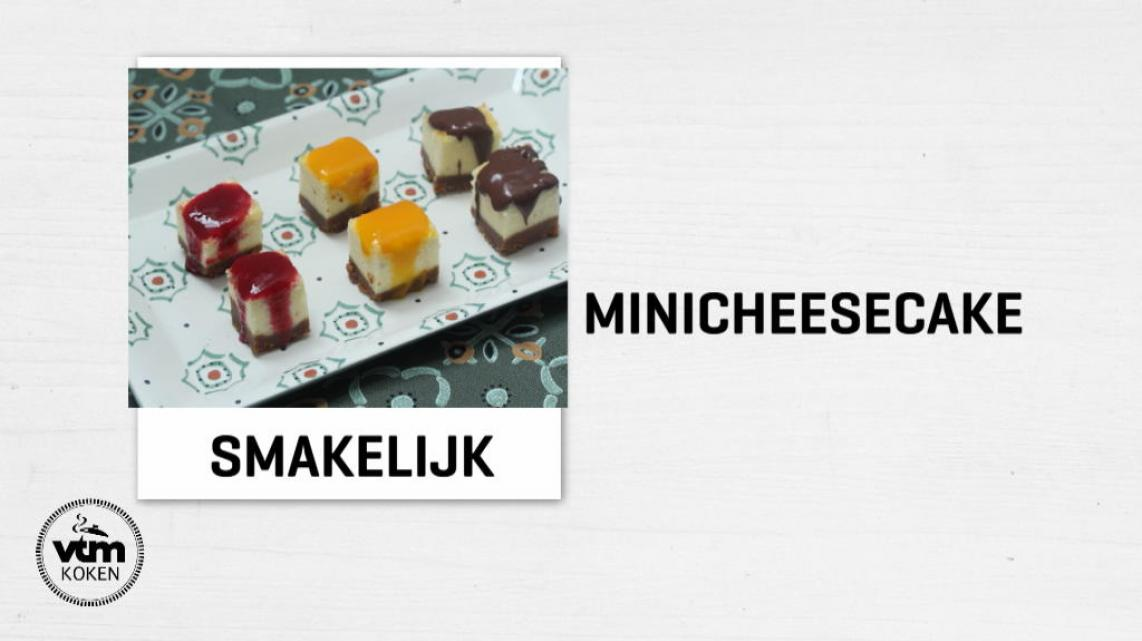 Video: Cheesecakehapjes met speculaasbodem, framboos, mango of chocolade